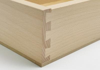 Sized large bottom mount drawer close up
