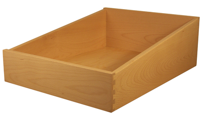 Sized large beech tapered drawer