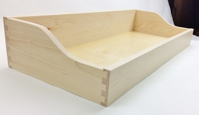 Sized large curved taper drawer
